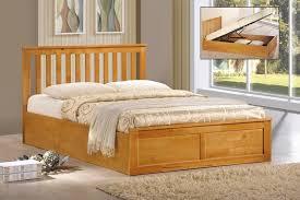 4ft6 double 5ft kingsize solid oak white wooden alaska ottoman