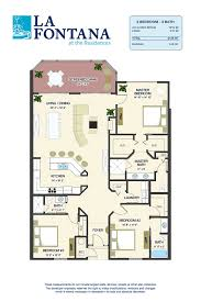 3 Bedroom Plan Floor Plans For New Condos In St Augustine Fl La Fontana