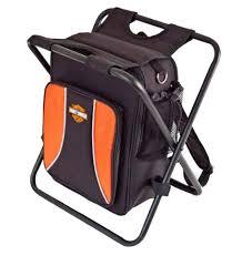 Backpack Cooler Beach Chair Harley Davidson Backpack Cooler Seat Orange U0026 Black 99304 Blk Ebay