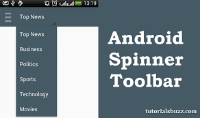 android toolbar tutorial android spinner in toolbar tutorialsbuzz