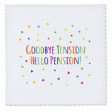 goodbye tension hello pension buy goodbye well miss you colorful stripes retirement party 4x2