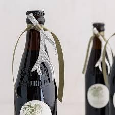 silver wine bottles silver antler bottle opener favor 6 the knot shop