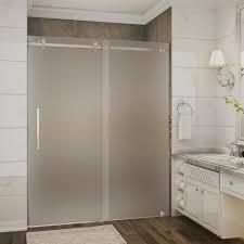 aston langham 60 in x 75 in frameless sliding shower door in oil