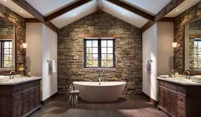 bathroom unusual bathroom design for small space with stone wall