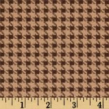 riley blake round up houndstooth brown discount designer fabric