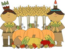 Thanksgiving Pilgrims And Indians Native American Clipart