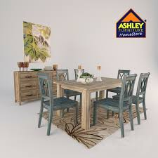 Dining Room Sets Ashley 3d Models Table Dining Room Set Ashley Furniture