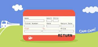 uk train ticket template