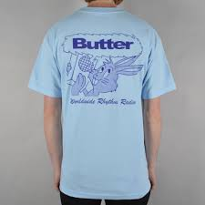butter goods radio t shirt powder blue skate clothing from