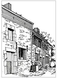 coloring pages houses 106 best coloring pages landscapes scenery images on