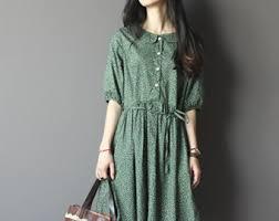 black half sleeve linen dress black long dress women home
