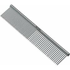 metal comb andis pet 7 1 2 inch steel comb 65730 dog comb