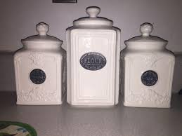 Thl Kitchen Canisters Find More Thl Off White Ceramic Canister Set For Sale At Up To 90
