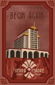 walppar madre a travel poster inspired by the sierra madre casino from the dead