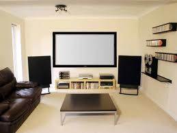Living Room   Wonderful Home Theatre Designs Simple Home - Living room with home theater design