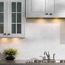 White Backsplash For Kitchen Fasade Backsplash Rings In Matte White