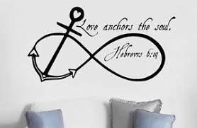 Love Anchors The Soul Wall - love anchors soul wall art decal quote words lettering home decor