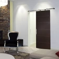 Latest Bedroom Door Designs by Copious Espresso Wooden Single Sliding Modern Interior Doors With