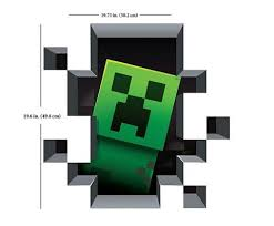 Minecraft Bedroom Decals by Minecraft Creeper Wall Decal Them Minecraft And Products