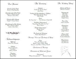 bi fold wedding program template tri fold wedding program template elitebuilder co
