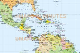Map Of Central America With Cities by Vector World Map Gall Projection Political Map Us Centric 10m