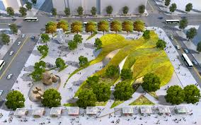 Map Of Los Angeles And Surrounding Areas by Rolling Green U0027ribbons U0027 Proposed For New Urban Park In Downtown La