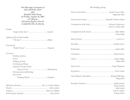 wedding bulletin template program template 4