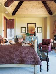 photos hgtv country style bedroom with pyramid vaulted ceiling
