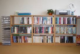simple and very practical low bookcase home design by john