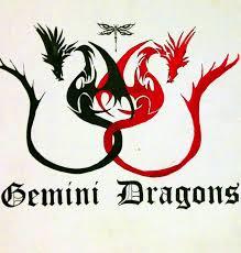 gemini dragons tattoo design tattoos book 65 000 tattoos designs