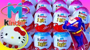 20 kinder joy surprise eggs kitty superman batman spinner