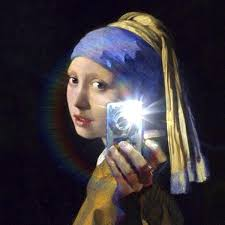 painting girl with a pearl earring loqi on girl with a pearl earring selfie by