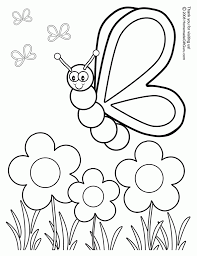 flower and butterfly coloring pages aecost net aecost net