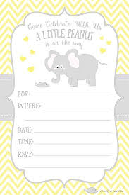 peanut baby shower peanut elephant baby shower invitations boy and gender