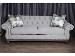 magnussen home victoria traditional button tufted sofa with flared