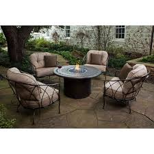 elegant costco outdoor furniture with fire pit regard to table