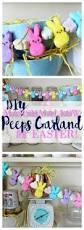 Easter Garlands Decorations diy marshmallow peeps easter garland decorations easter