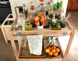 Cocktail Parties Ideas - furniture fetching simple wood mini bar cart for home cocktail