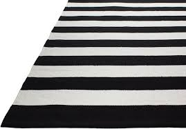Black And Brown Area Rugs Fab Habitat Nantucket Striped Black White Indoor Outdoor Area Rug