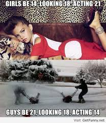 Memes Funny Quotes - the difference between girls and guys funny pictures funny quotes