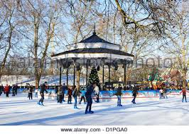 skating at the winter rink situated in s