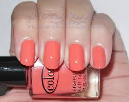 coral color polished indulgence twin post color club coral cascade