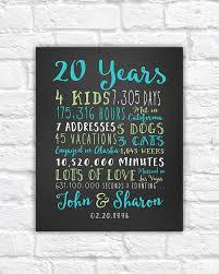 20th anniversary gift 20 year wedding anniversary anniversary