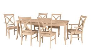 unfinished pine dining room furniture queen anne chairs maple