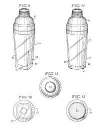 cocktail drawing patent us6913165 cocktail shaker google patents