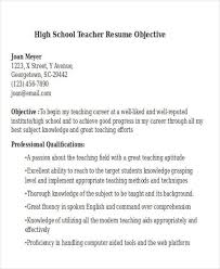 Resume Objective For Preschool Teacher Career Objective For Teacher Resume Finance Resume Objective