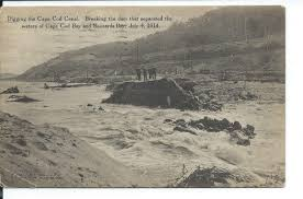file postcard view of breaking the dam of the cape cod canal july
