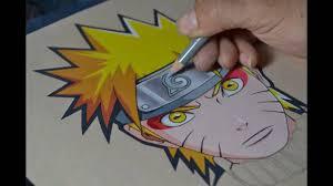 drawing naruto sage mode color pencils