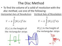 objective swbat use integration to calculate volumes of solids