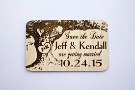 save the date magnets cheap oak tree wood save the date magnet large size laser engraved